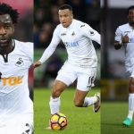Wilfried Bony, Martin Olsson and Leroy Fer